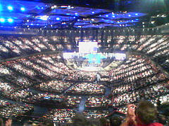 Joel Osteen's Lakewood Church in Houston, Texas