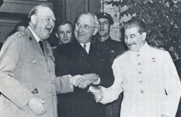 Friends Forever: Churchill, Truman, Stalin (Credit: U.S. Army)