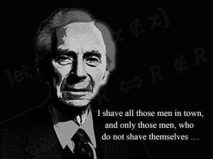 … it is quite doubtful whether Bertrand Russell ever existed at all, and if he did we do not know anything about Him …